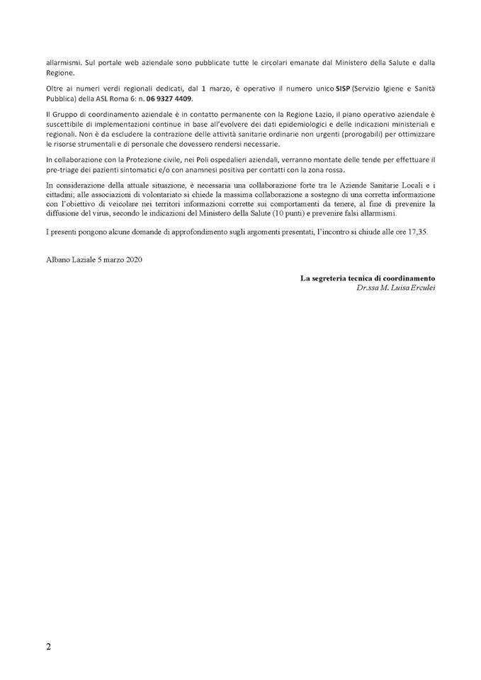 Asl roma 6: comunicato part 2